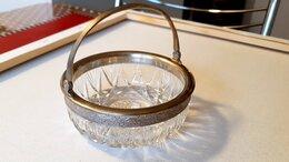 Декоративная посуда - Сахарница, конфетница СССР серебро 875 пр.,…, 0
