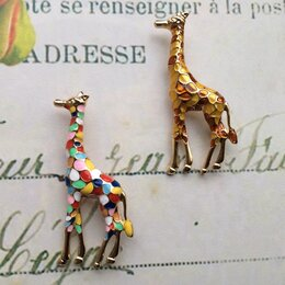 Броши - Жираф, брошь , 0