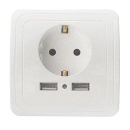 Электроустановочные изделия - Розетка с USB, 0