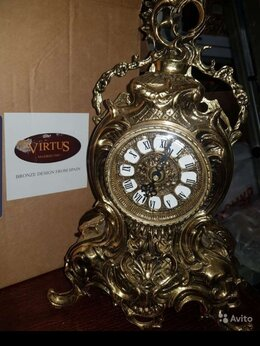 Часы настольные и каминные - Часы бронзовые, производство Испания, 0