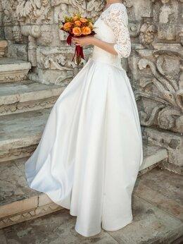Платья - Атласное платье, фата в подарок, 0