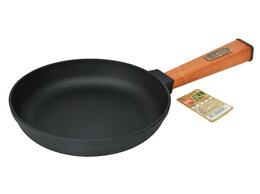 Сковороды и сотейники - Сковорода чугунная 220*40 с деревянной ручкой…, 0