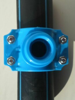 "Комплектующие водоснабжения - Хомут-врезка 63/1"" для пнд труб, 0"