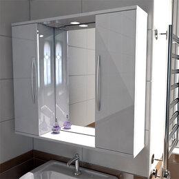 Шкафы, стенки, гарнитуры - Зеркало в ванную с двумя боковыми шкафчиками…, 0