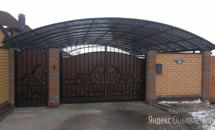 Въездные ансамбли - ворота с навесом по цене не указана - Заборы, ворота и элементы, фото 0