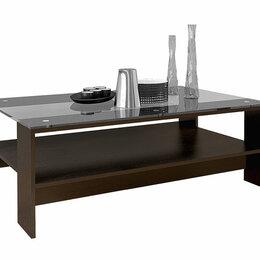 Столы и столики - Стол журнальный со стеклом Лофт, 0