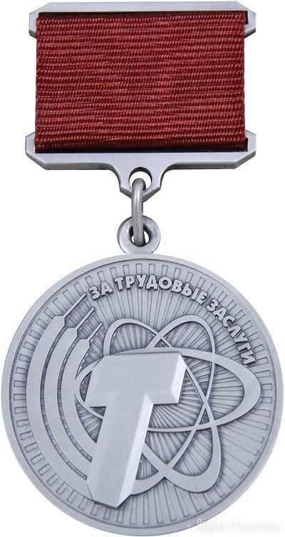 Медаль За трудовые заслуги/Слава труду серебро 925 по цене 6600₽ - Жетоны, медали и значки, фото 0