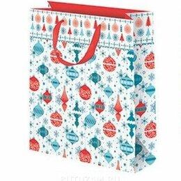 Подарочная упаковка - Пакет подарочный Шарики 26х32 см, белый, 0