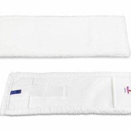 Аксессуары - Моп ПРО плоский, белая микрофибра 40 см,  карман-язык V (0409), 0