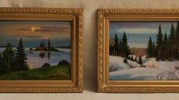 Картины, постеры, гобелены, панно - Две КАРТИНЫ КАРТИНКИ Пейзаж Масло Картон…, 0