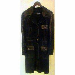 Пальто - Замшевое женское пальто размер 44 - 46, 0
