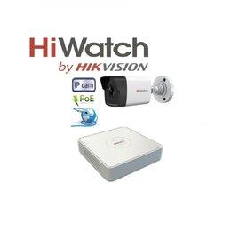Камеры видеонаблюдения - Видеонаблюдение HiWatch (IP-POE) на 1камеру 2Mxp, 0