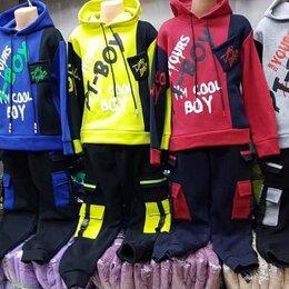 Спортивные костюмы и форма - Костюм на 7 лет новый с полуначесом синий, 0