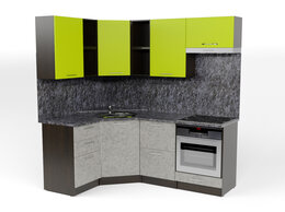 Мебель для кухни - Кухонный гарнитур Анна оптима 4 1400х2000 мм, 0