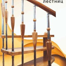 Лестницы и элементы лестниц - Комбинированные балясины из дуба и нержавейки., 0