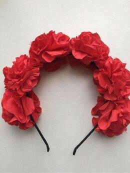 Украшения на тело - Ободок на волосы новый розы красные в стиле…, 0