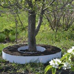 Заборчики, сетки и бордюрные ленты - Клумба из металла вокруг дерева , 0