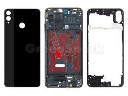 Корпусные детали - Корпус для Huawei Honor 8X (черный), 0
