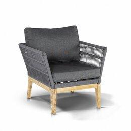 """Плетеная мебель - Кресло плетеное с подушками серое """"Мальорка"""", 0"""