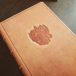 Канцелярские принадлежности - Ежедневник в коже, 0