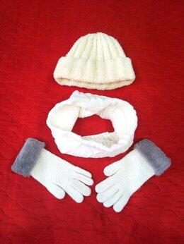 Головные уборы - Зимняя шапка,снуд и перчатки, 0