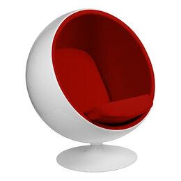 Кресла - Кресло-шар белое с красным Eero Aarnio Style…, 0