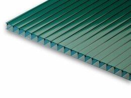 Поликарбонат - Сотовый поликарбонат зеленый 6000х2100х10мм, 0