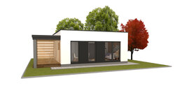 Готовые строения - Дом из газобетона  45 м.кв. в современном стиле, 0