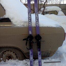 Беговые лыжи - Лыжи деревянные детские, длина 125см, 0