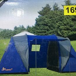 Палатки - Палатка 4-х местная  двух тамбурная с навесом двух слойная  3000 рт/ст, 0