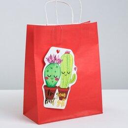 Тенты и подстилки - Пакет крафтовый с шильдиком I`m your best gift, 21.5 × 27.5 × 10.5 см, 0