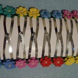 Аксессуары для волос - Зажимы с маленькими цветочками. Цена за пару, 0