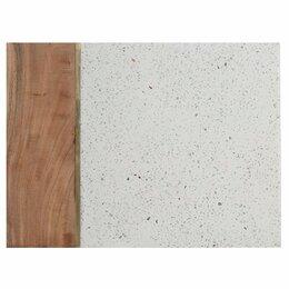 Разделочные доски - Доска из камня и акации серо-коричневая 40х30 см…, 0