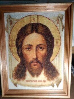 Картины, постеры, гобелены, панно - Картина Иисус на гибком камне в рамке, 0