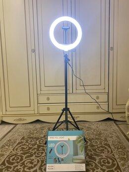 Осветительное оборудование - Кольцевая лампа 32см. Со штативом и пультом, 0