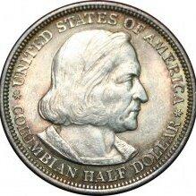 Монеты - США 1/2 доллара 1883 год Колумб. , 0