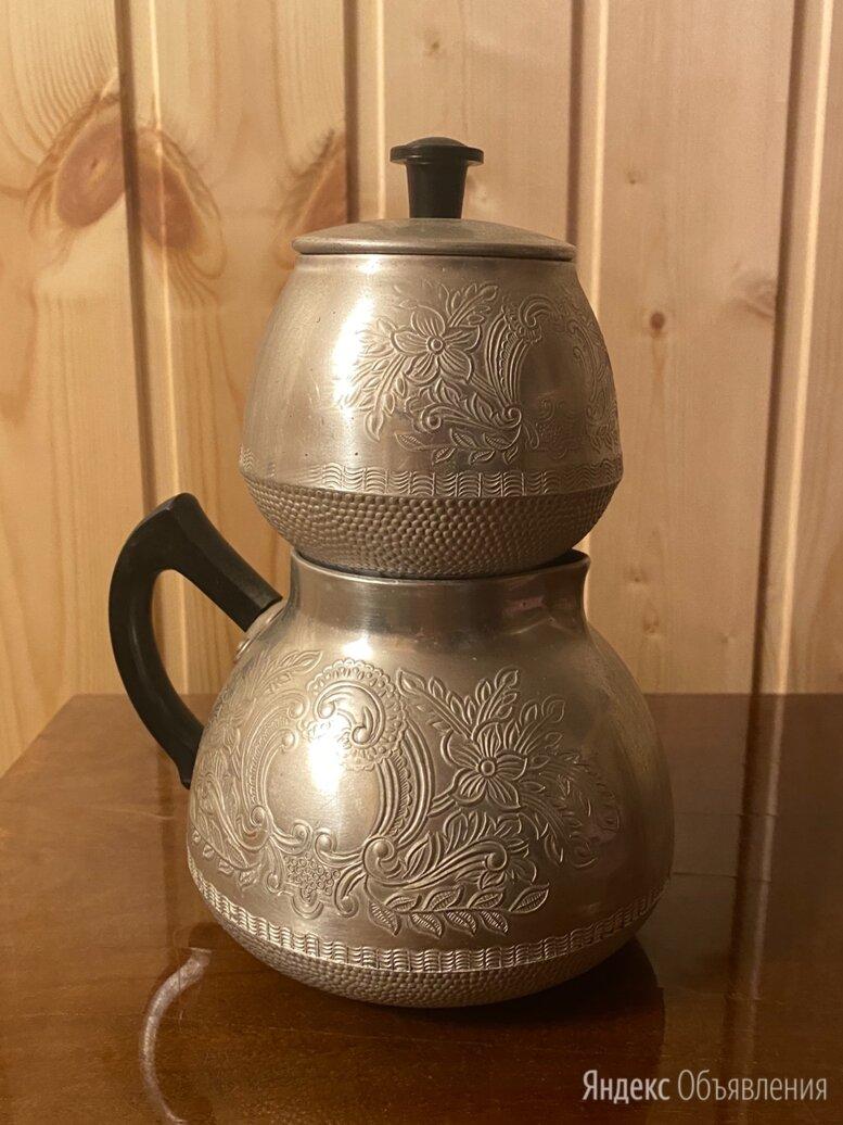 Заварочный чайник с чайницей. СССР. Алюминий по цене 500₽ - Заварочные чайники, фото 0