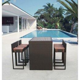 Плетеная мебель - Барный комплект плетеной мебели из ротанга T390AD, 0