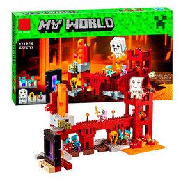 """Конструкторы - Конструктор Lari """"Minecraft"""" Мой мир Подземная крепость 571 деталь, 0"""