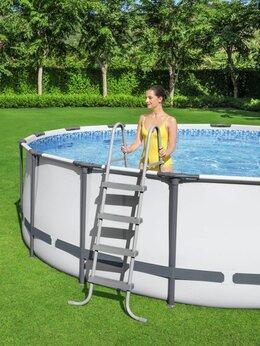 Бассейны - Каркасный бассейн круглый BestWay 366х122см +2…, 0