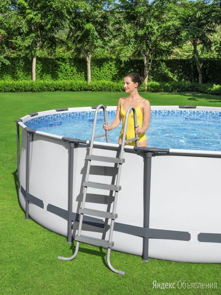 Каркасный бассейн круглый BestWay 366х122см +2 аксессуара по цене 34990₽ - Бассейны, фото 0
