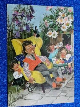 Конверты и почтовые карточки - Почтовые открытки.ЁЖ,ЕЖИХА ,лот = 9 шт.1968 -…, 0