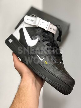 Кроссовки и кеды - Nike Air Force 1 Mid черно-белые, 0