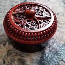 Шкатулки - Шкатулка круглая плетёная, 0