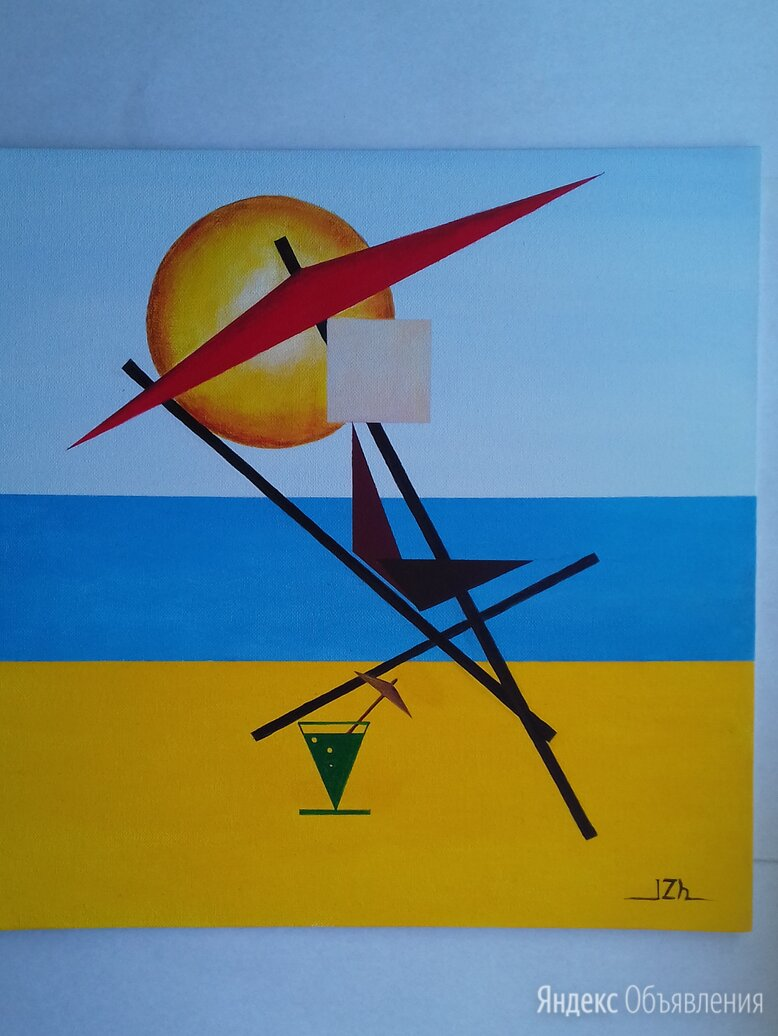 Картина *Под южным солнцем*, холст на картоне, акрил, размер 40 на 40 см по цене 8150₽ - Картины, постеры, гобелены, панно, фото 0