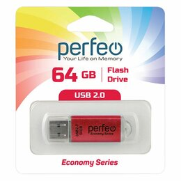 USB Flash drive - 64GB USB 2.0 Flash Drive PERFEO E01 красный…, 0