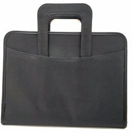 Портфели - Папка деловая черная кожзам на молнии с ручками…, 0