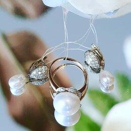 Комплекты - Комплект бриллианты с жемчугом, 0