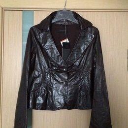 Жакеты - 44-46 размер Vespucci Italy коричневый кожаный жакет Новый, 0