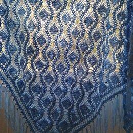 Накидки - Голубая шаль крючком, 0